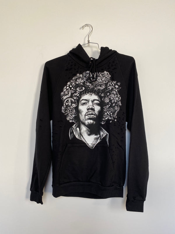 JIMI PULLOVER HOODIE WITH HOLES (MEDIUM)