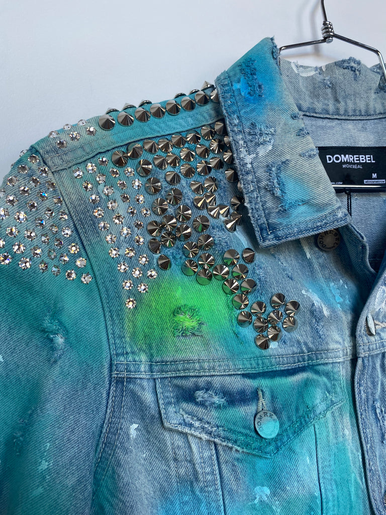 BYE STUDDED JEAN JACKET (MEDIUM)