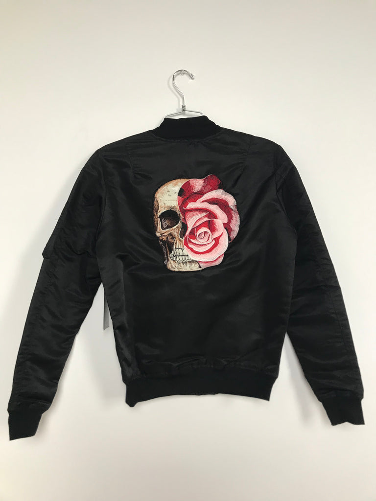 SKULL BOMBER JACKET (MEDIUM)