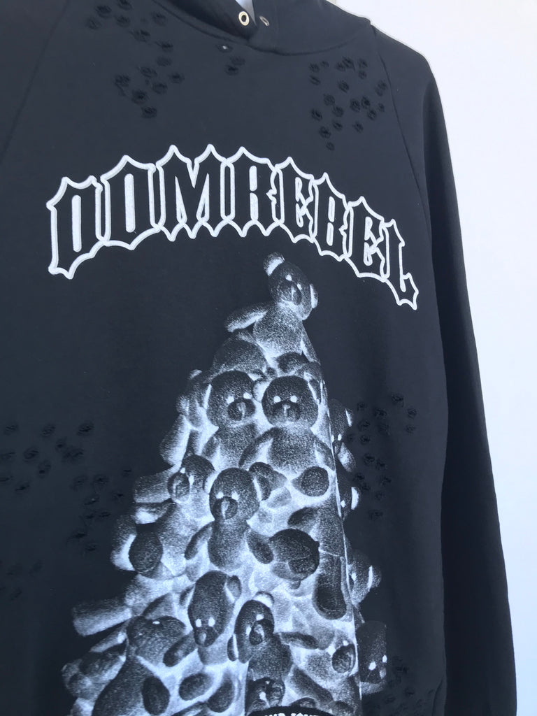 PILE PULLOVER HOODIE WITH HOLES (MEDIUM)