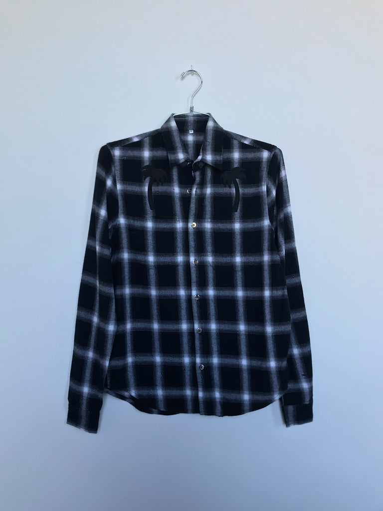 TREES PLAID SHIRT (MEDIUM)