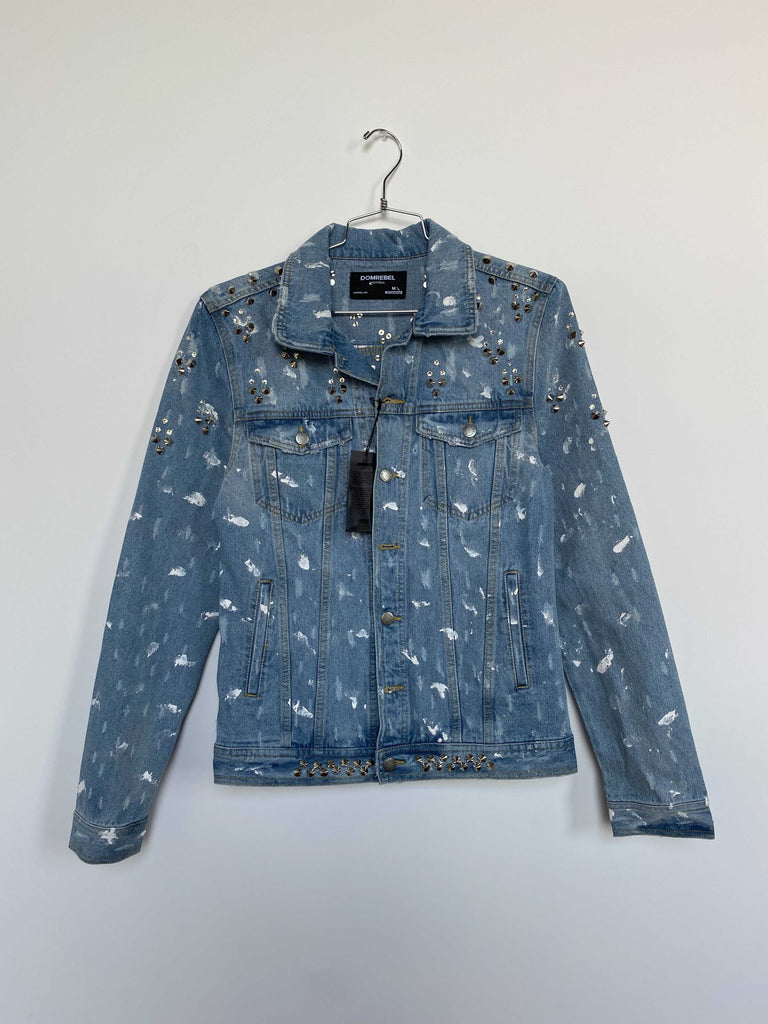 ARCH STUDDED JEAN JACKET (MEDIUM)