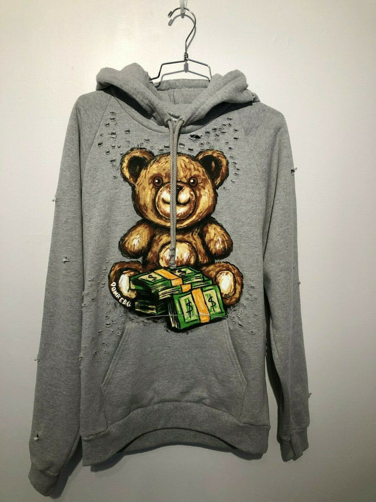 TEDDY MONEY PULLOVER HOOD WITH HOLES (MEDIUM)
