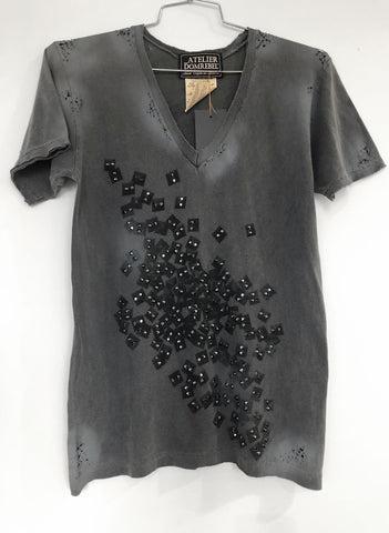 SUPER STUDS XL V-NECK 1K CRYSTALS