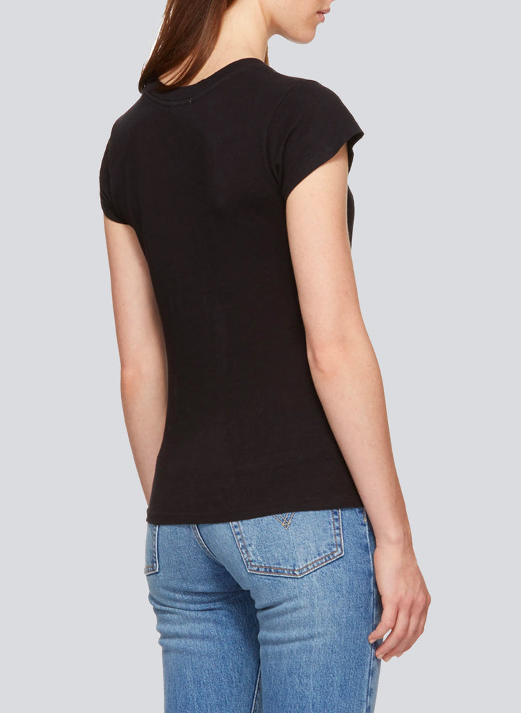 MONA CAP SLEEVES T-SHIRT