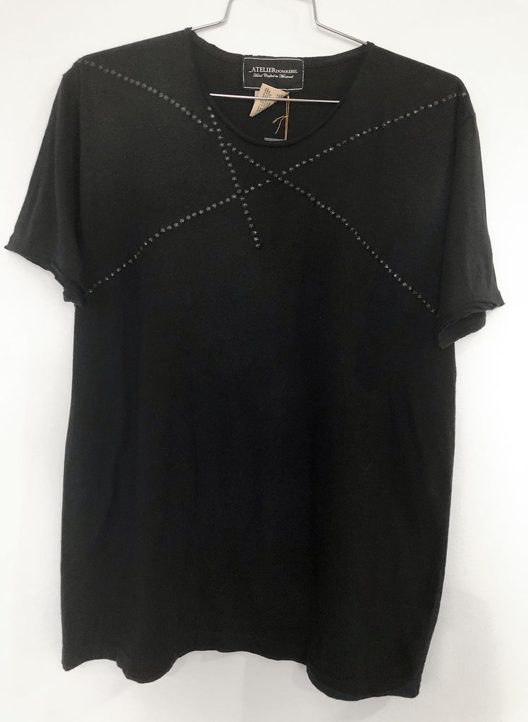 LINES T-SHIRT WITH 150 CRYSTALS (XL)