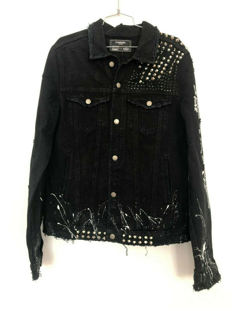 RIDER JEAN JACKET WITH STUDS (MEDIUM)