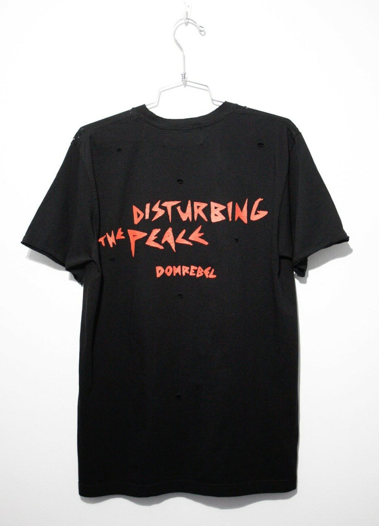 DISTURB T-SHIRT WITH HOLES (MEDIUM)