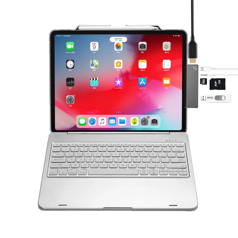 "6 IN 1 USB-C HUB for new gen iPad Pro 11""-12.9"""