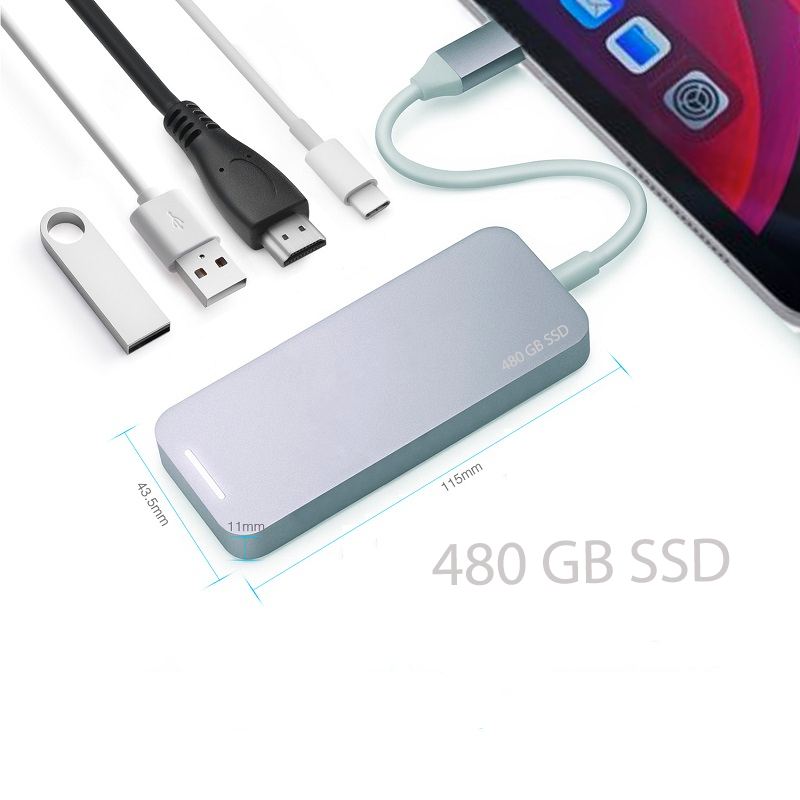 Internal memory SSD USB-C HUB 120GB/240GB/480GB