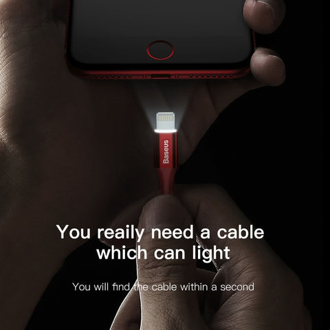 Smart LED lightning charging cable