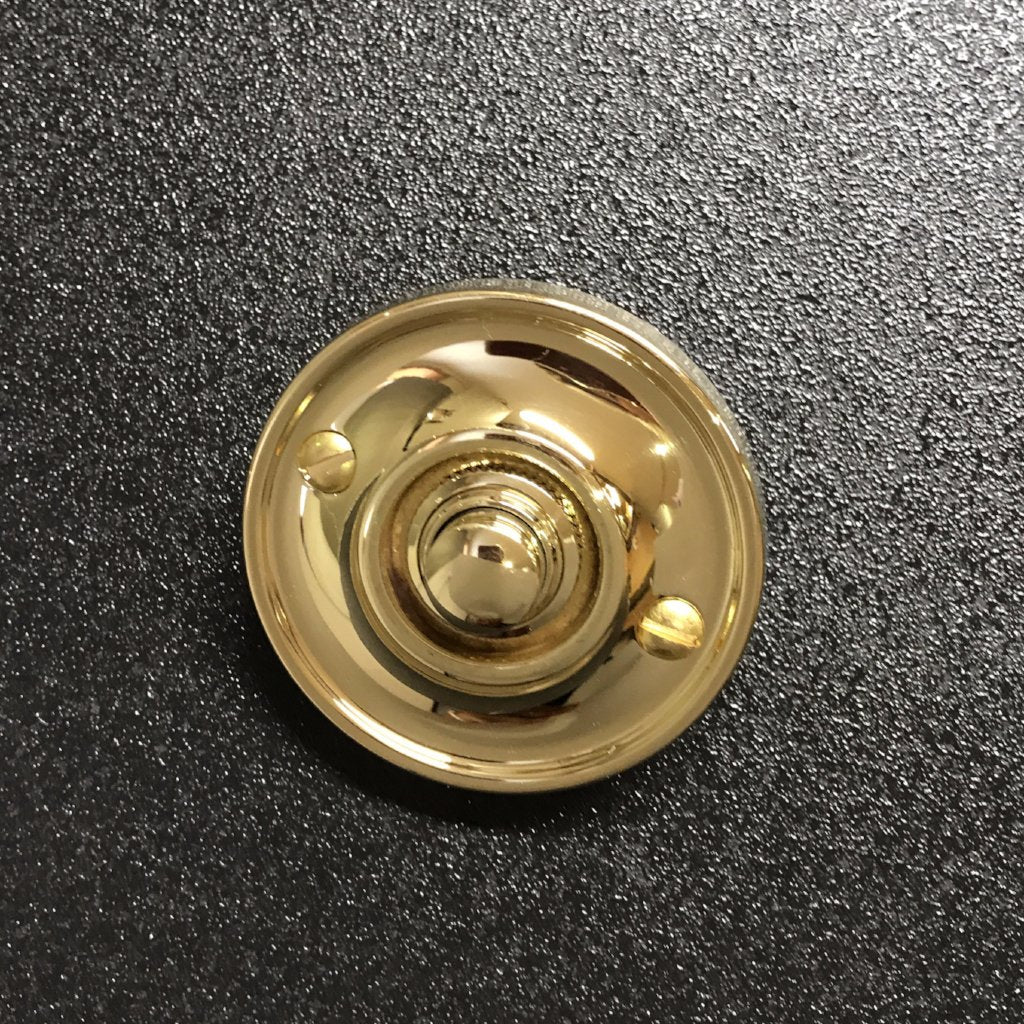 Polished Brass Victorian Traditional Round Front Door Bell Push | ATC