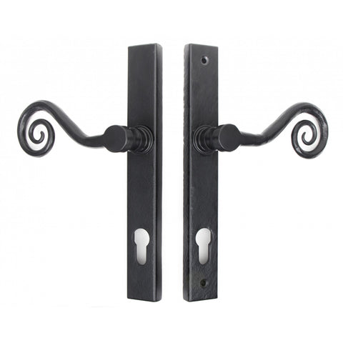 Anvil Monkeytail Slim Traditional Lock Door Handle Set | ATC