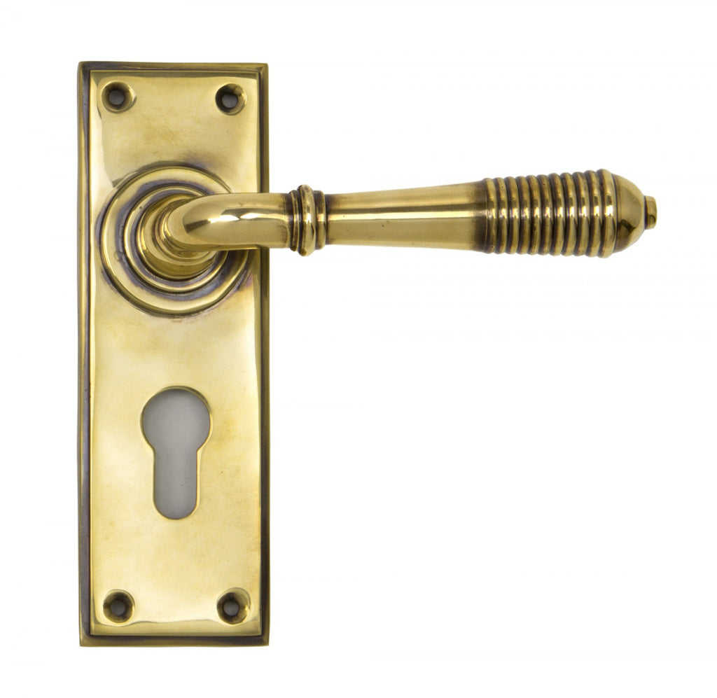 Reeded Lever Euro Lock Set  (z)