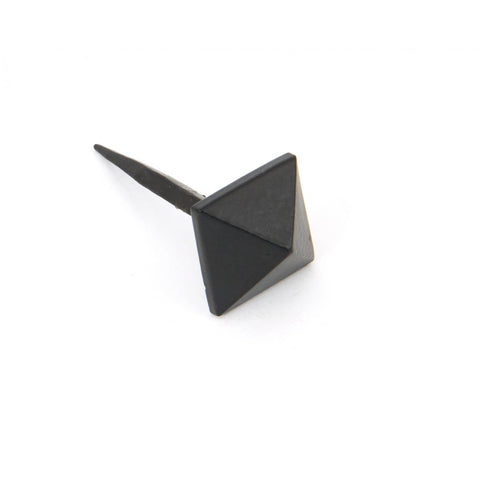 From the Anvil Black Pewter Cast Iron Traditional Pyramid Door Stud | ATC