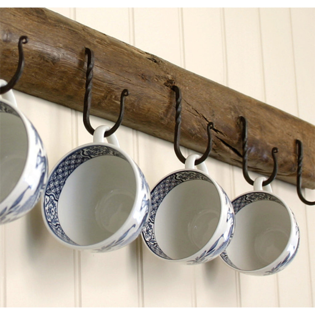 Anvil Black Pewter Country Cottage Kitchen Cup Hooks | ATC