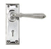 Reeded Lever Lock Set  (z)