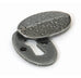 Blacksmith Oval Escutcheon and Cover  (z)