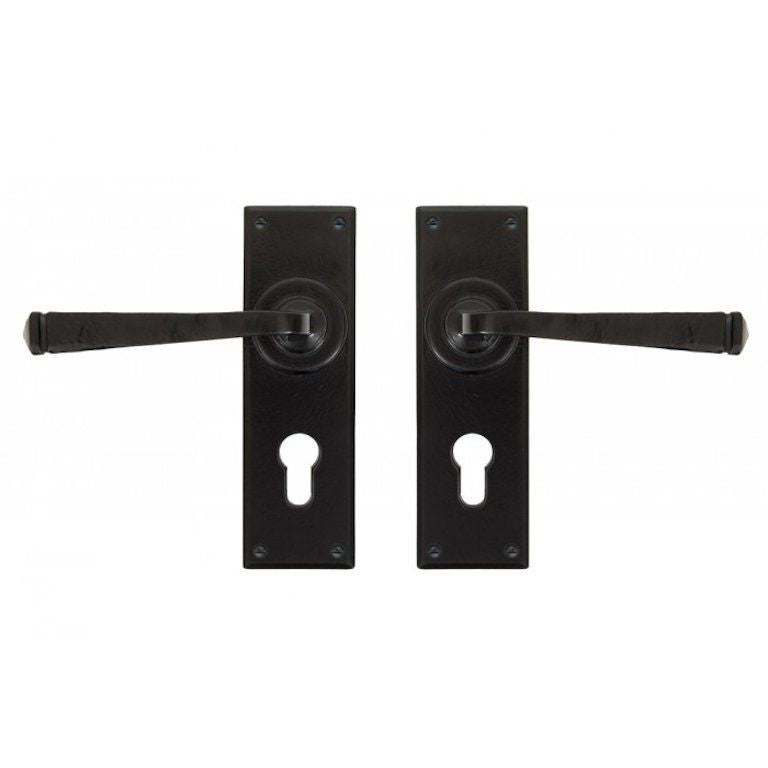 From the Anvil Avon Euro Lock Traditional Door Handle Set | ATC