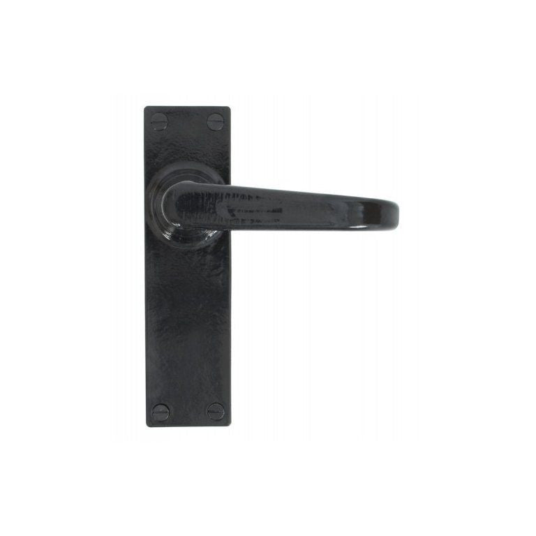 From the Anvil 33878 Black Deluxe Lever Latch Door Handle Set | ATC