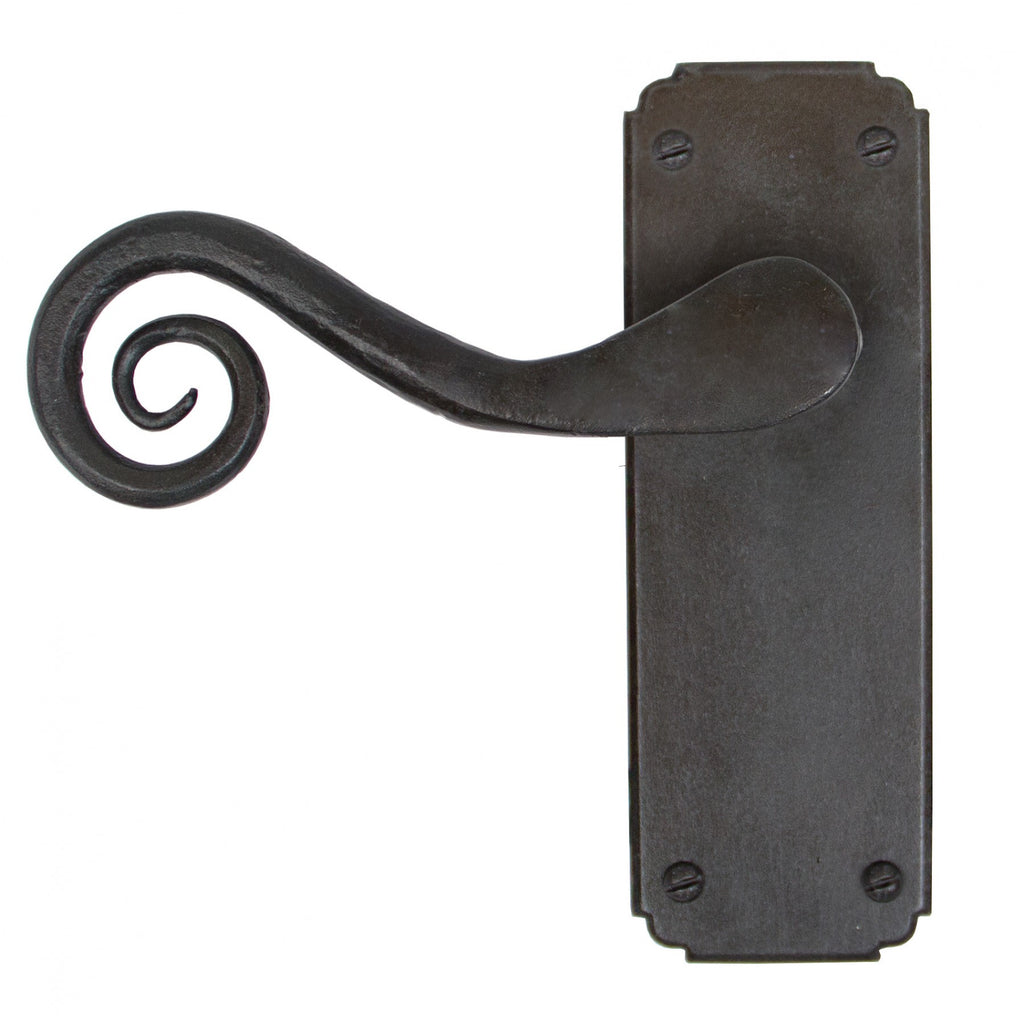 Anvil Black Pewter Monkeytail Traditional Door Handle Set | ATC