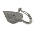 Pewter Shropshire Coat Hook  (z)