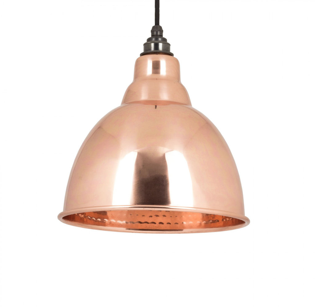 HAMMERED COPPER INTERIOR BRINDLEY PENDANT  (z)