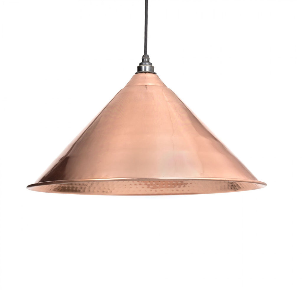 Hockley Pendant Hammered Copper Interior  (z)