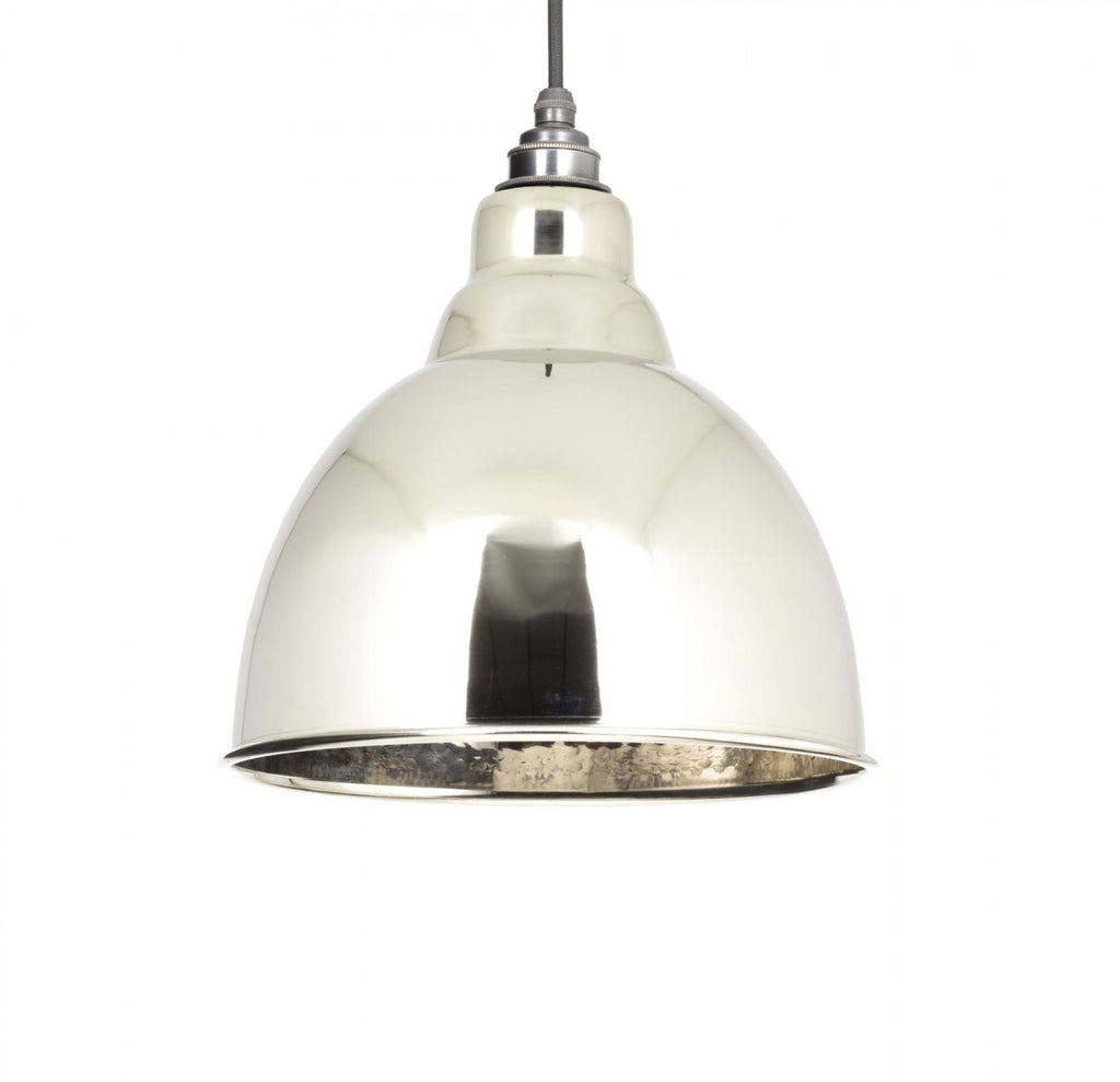 Brindley Pendant Hammered Nickel Interior  (z)