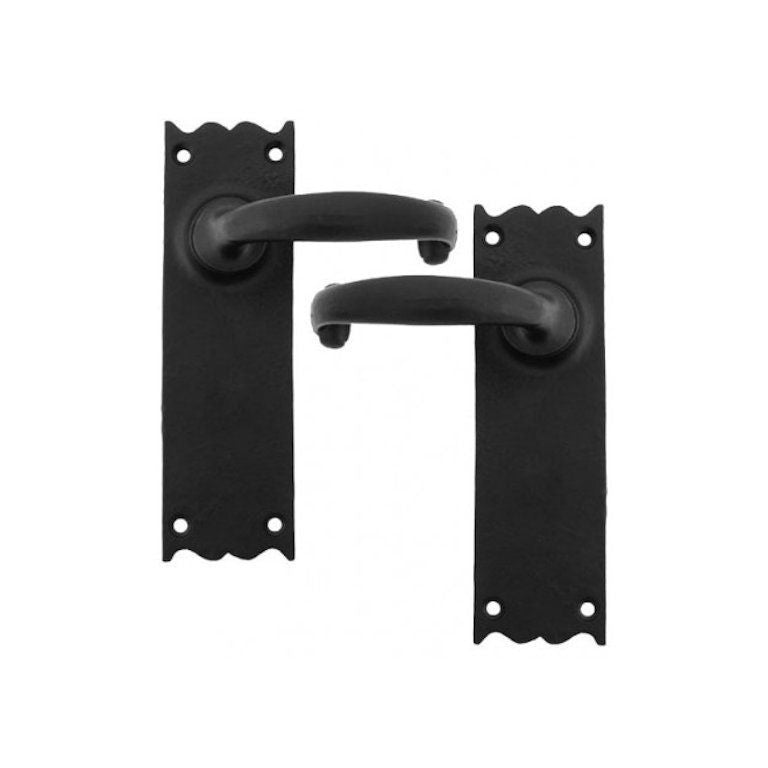 Anvil 73107 Black Traditional Cottage Cast Iron Lever Door Handle Set | ATC