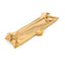 Polished Brass Postal Letterplate with Clapper  (z)