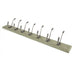 FARMHOUSE HAT & COAT RACK - NATURAL SMOOTH & OLIVE GREEN  (z)