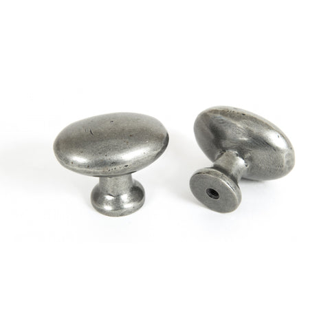 From the Anvil Oval Cabinet Knob in Beeswax, Black or Pewter | ATC