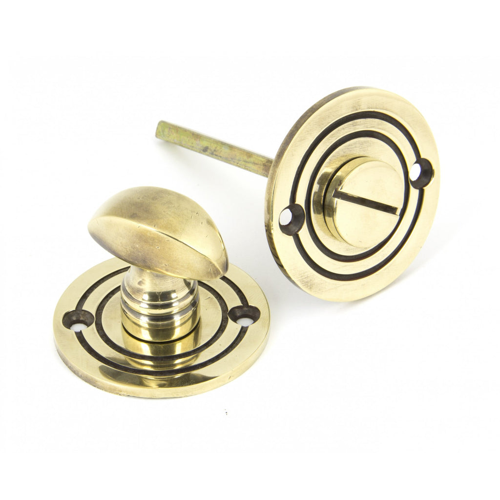 Anvil Brass Bronze Chrome Round Bathroom Latch Thumbturn | ATC