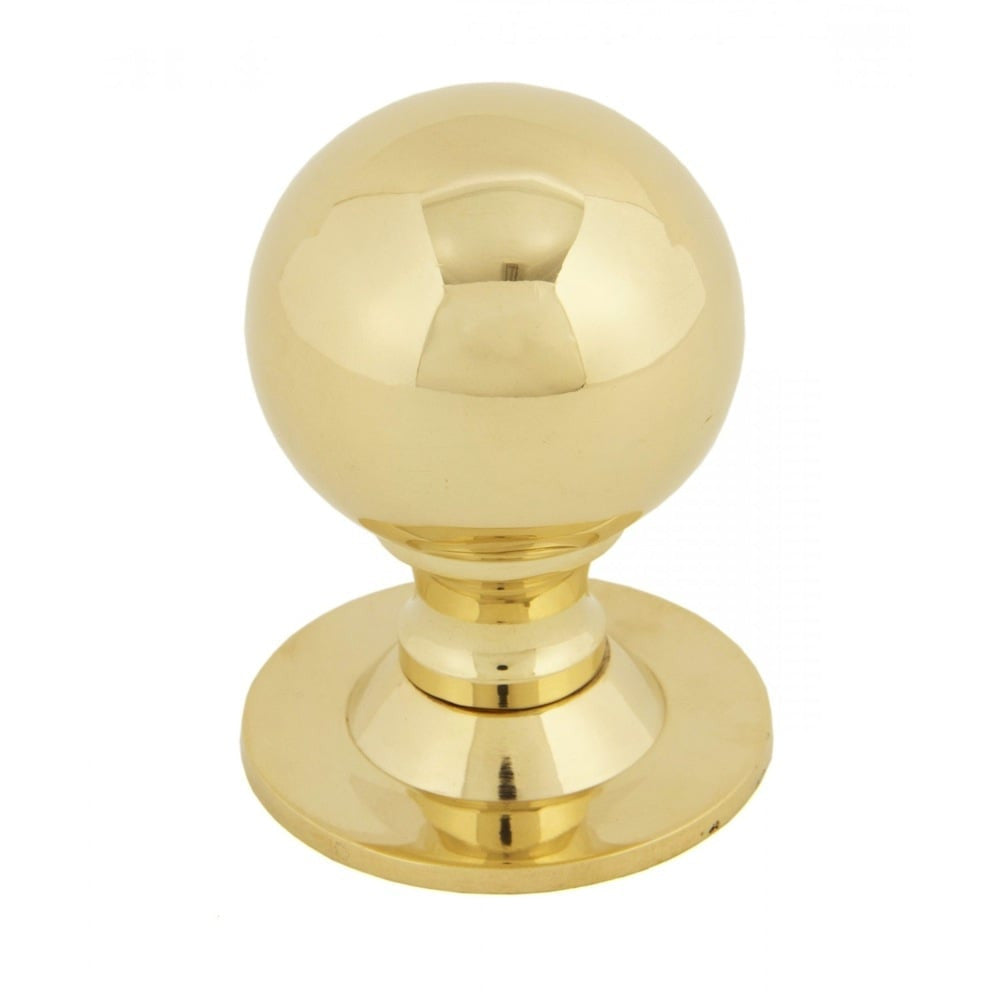 Anvil Polished Solid Brass Ball Cabinet Cupboard Kitchen Knob Handle | ATC