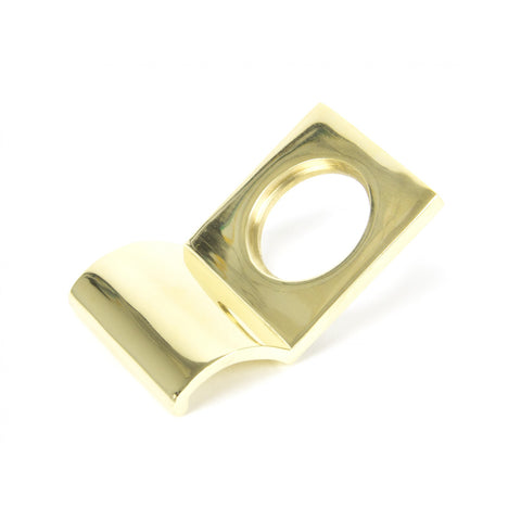 Anvil Polished Brass Rim Cylinder Pull Keyhole Lock Escutcheon | ATC