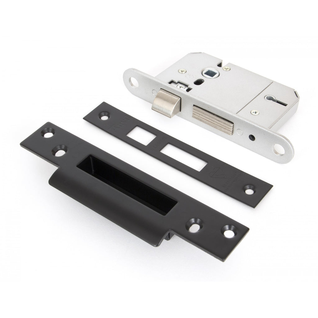 Anvil 5 Lever Sash Door British Standard Lock Brass, Black Steel | ATC
