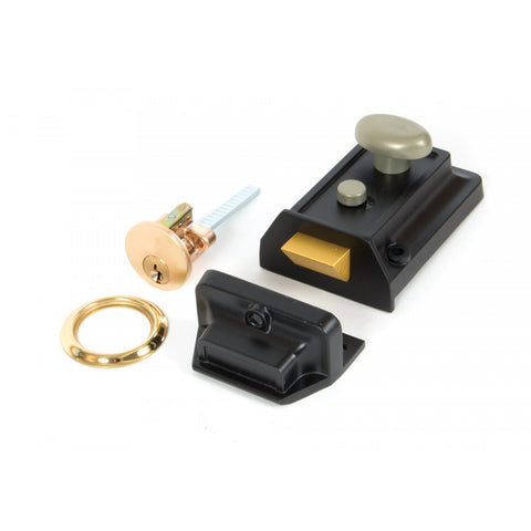 From the Anvil Traditional Black Ironmongery Night Latch | ATC