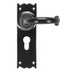 Black Cottage Lever Euro Lock Set  (z)