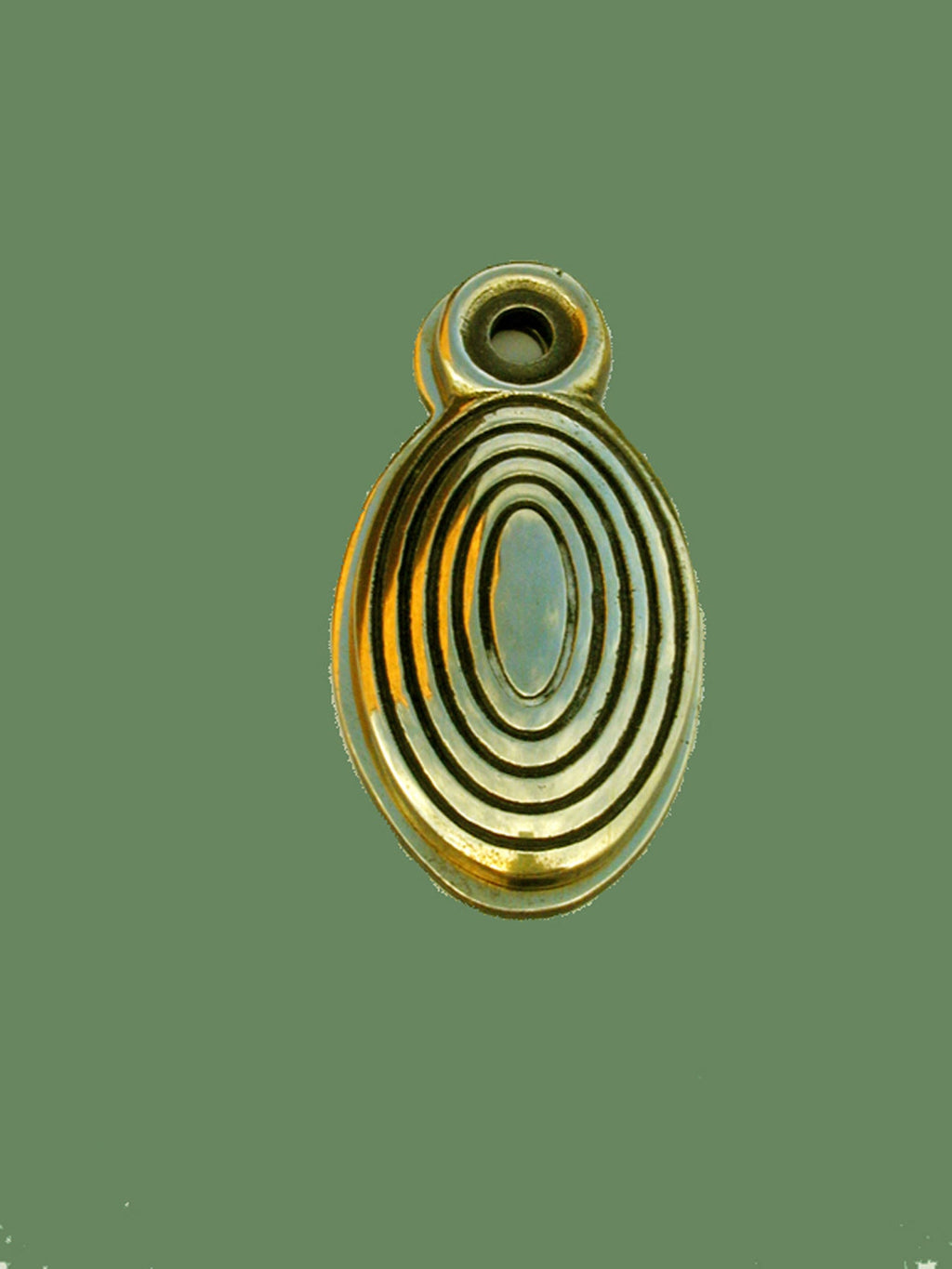 Antique Brass Beehive Escutcheon