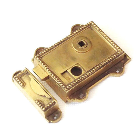 Regency Antique Period Cast Solid Brass Victorian Door Rim Latch | ATC