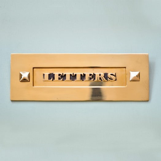 Classic Traditional Period Solid Brass 'Letters' Letter Plate | ATC
