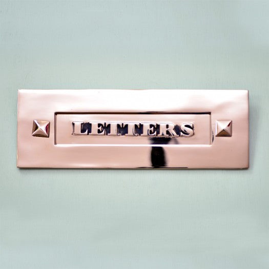 Classic Victorian Nickel Chrome 'Letters' Letterbox Letter Plate | ATC
