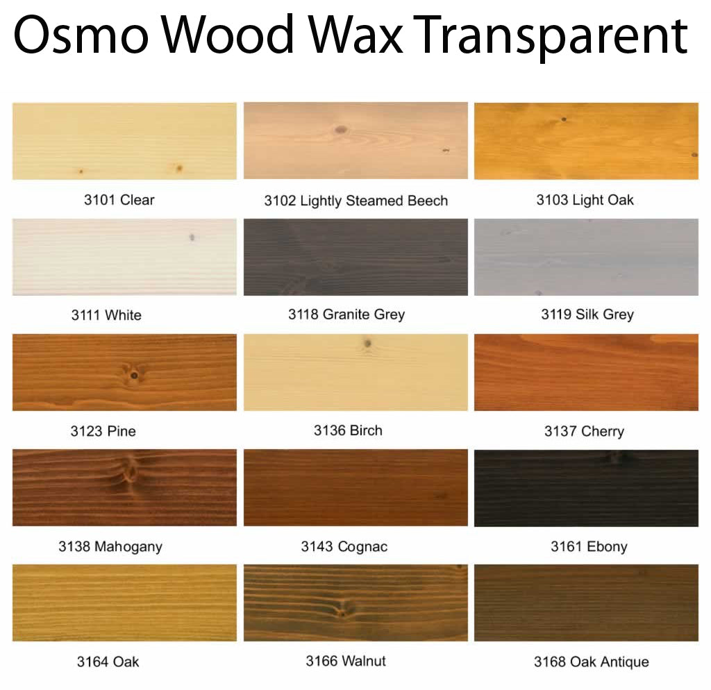 Osmo Wood Wax Finish Transparent Clear 3101 Atc Atc Online