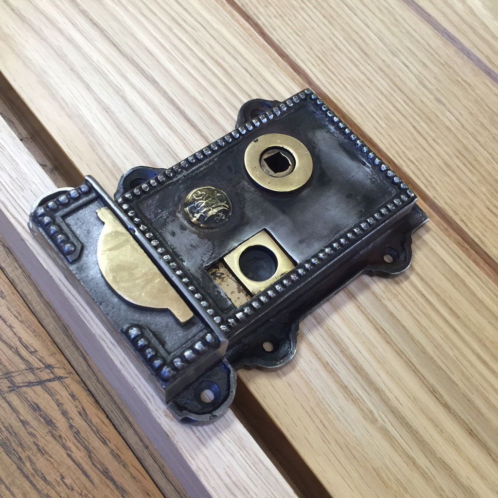 Victorian Regency Iron Brass Privacy Bathroom Door Rim Latch | ATC