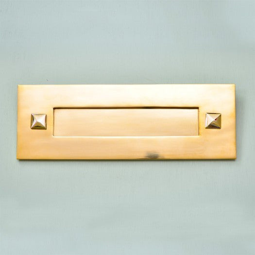 Traditional Period Solid Polished Brass Letterbox Letterplate | ATC