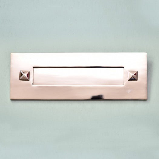 Traditional Period Nickel Chrome Front Door Letterbox Letterplate