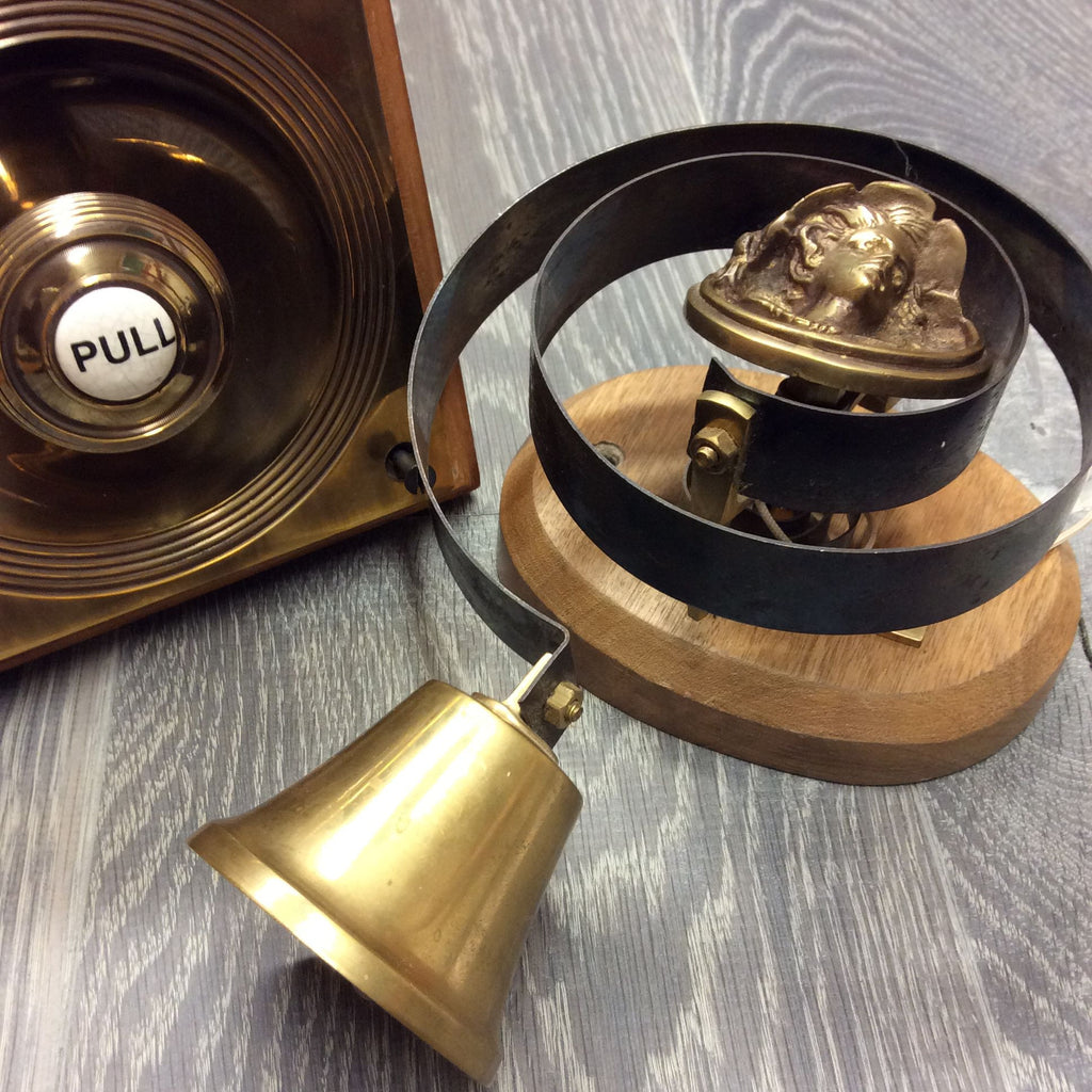 Claverley Victorian Antique Reproduction Solid Brass Butlers Bell | ATC