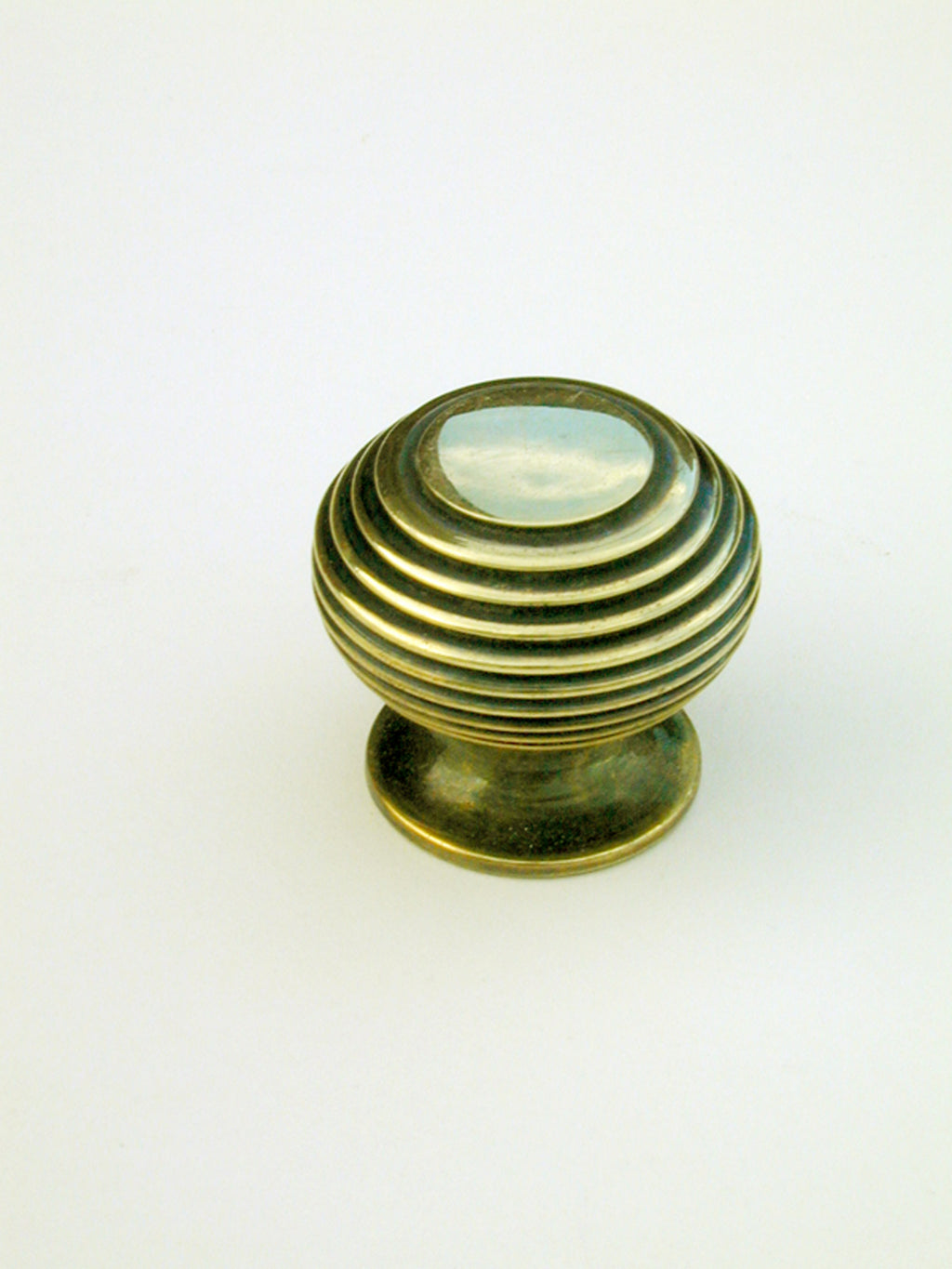 Solid Brass Beehive Cabinet Knob