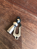 Polished Nickel Lady Keyhole Escutcheon